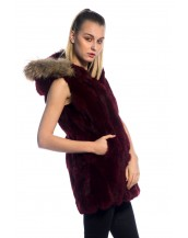 Chaleco de Conejo con Cuello de marmota PC-LLL5489